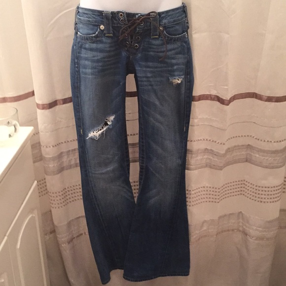 True Religion Denim - NWOT True Religion Cassidy Lace up flare jeans 24